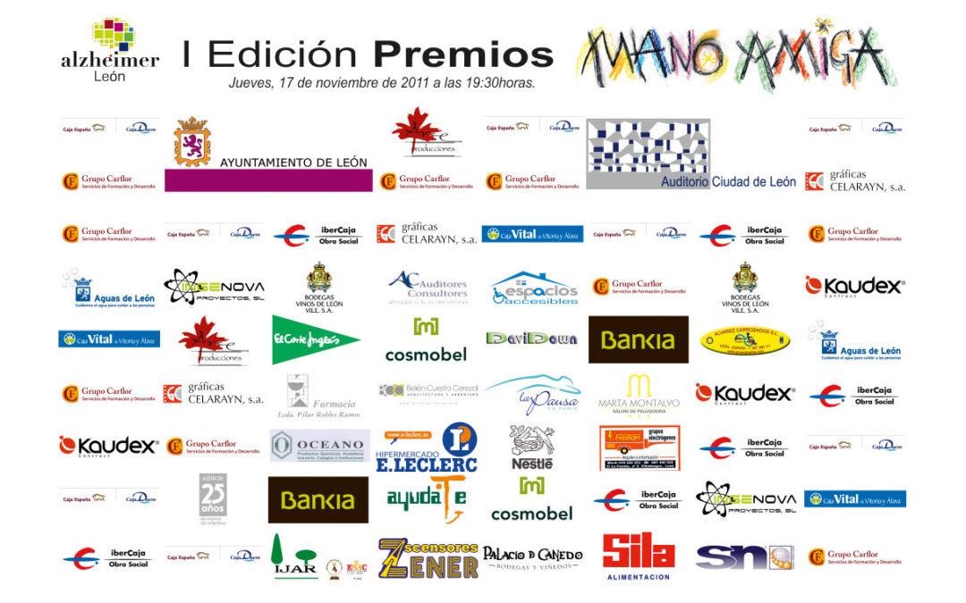 Patrocinadores de la Gala de entrega I Edición Premios MANO AMIGA