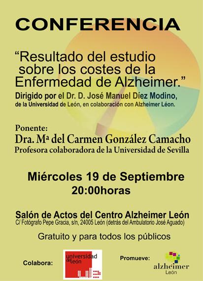 Conferencia Estudio de los costes sobre la Enfermedad de Alzheimer