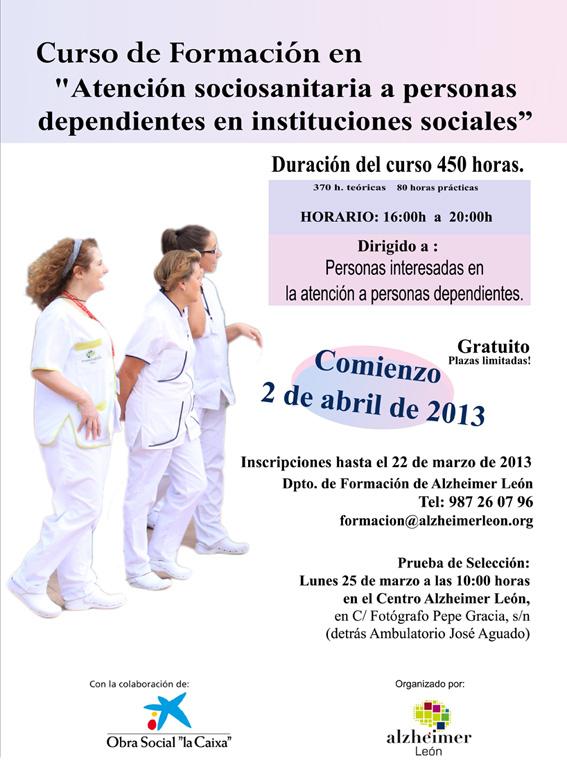 Comienzo Curso en Atención sociosanitaria a personas dependientes en instituciones sociales
