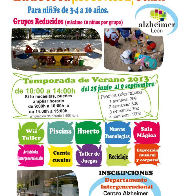 Ludoteca ¡ACTÍVATE! Junior en las instalaciones del Centro Alzheimer_Inscripciones Verano 2013