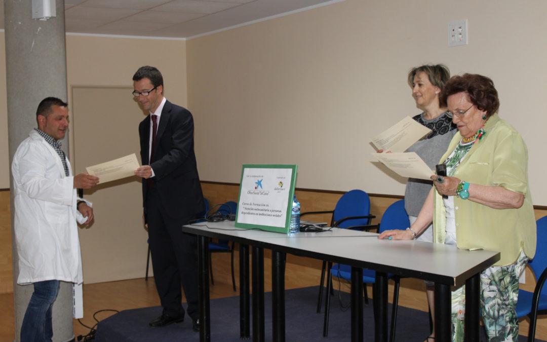 Entrega de Diplomas curso Fundació La Caixa y Alzheimer León
