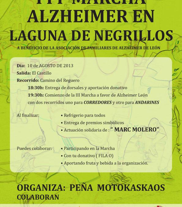 III Marcha a favor de Alzheimer León en Laguna de Negrillos