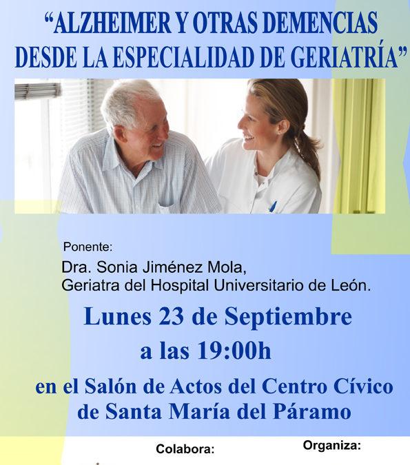 Conferencia «Alzheimer y otras Demencias desde la especialidad de geriatría»