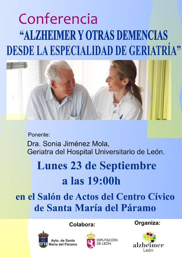"""Conferencia """"Alzheimer y otras Demencias desde la especialidad de geriatría"""""""