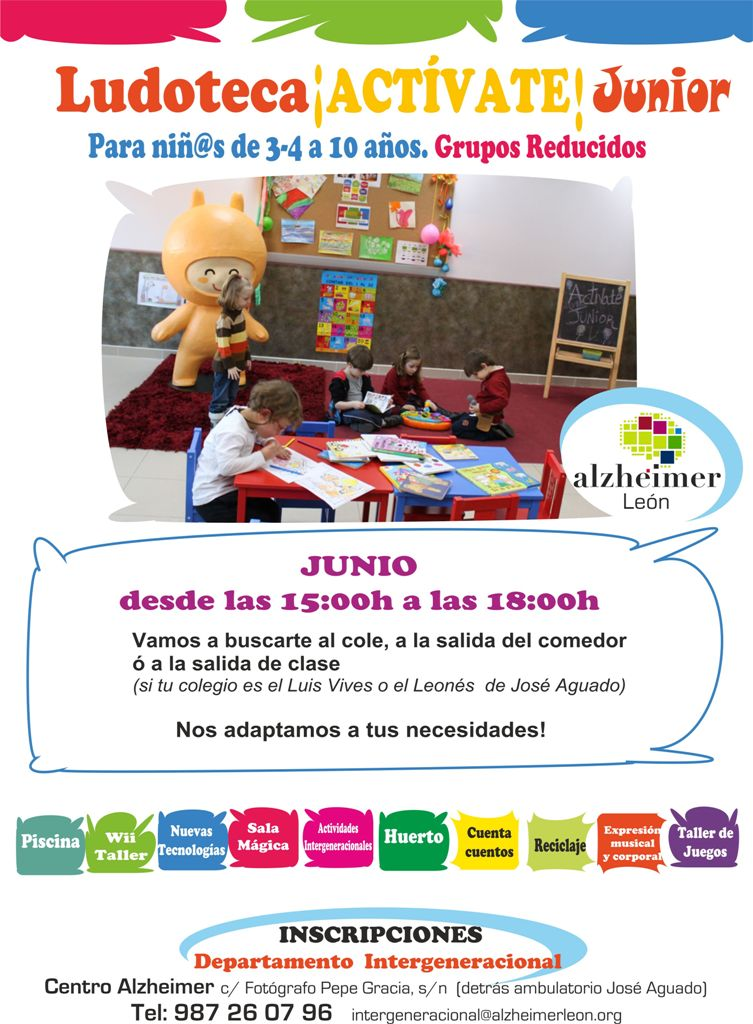Ludoteca !ACTÍVATE! Junior – Verano 2014