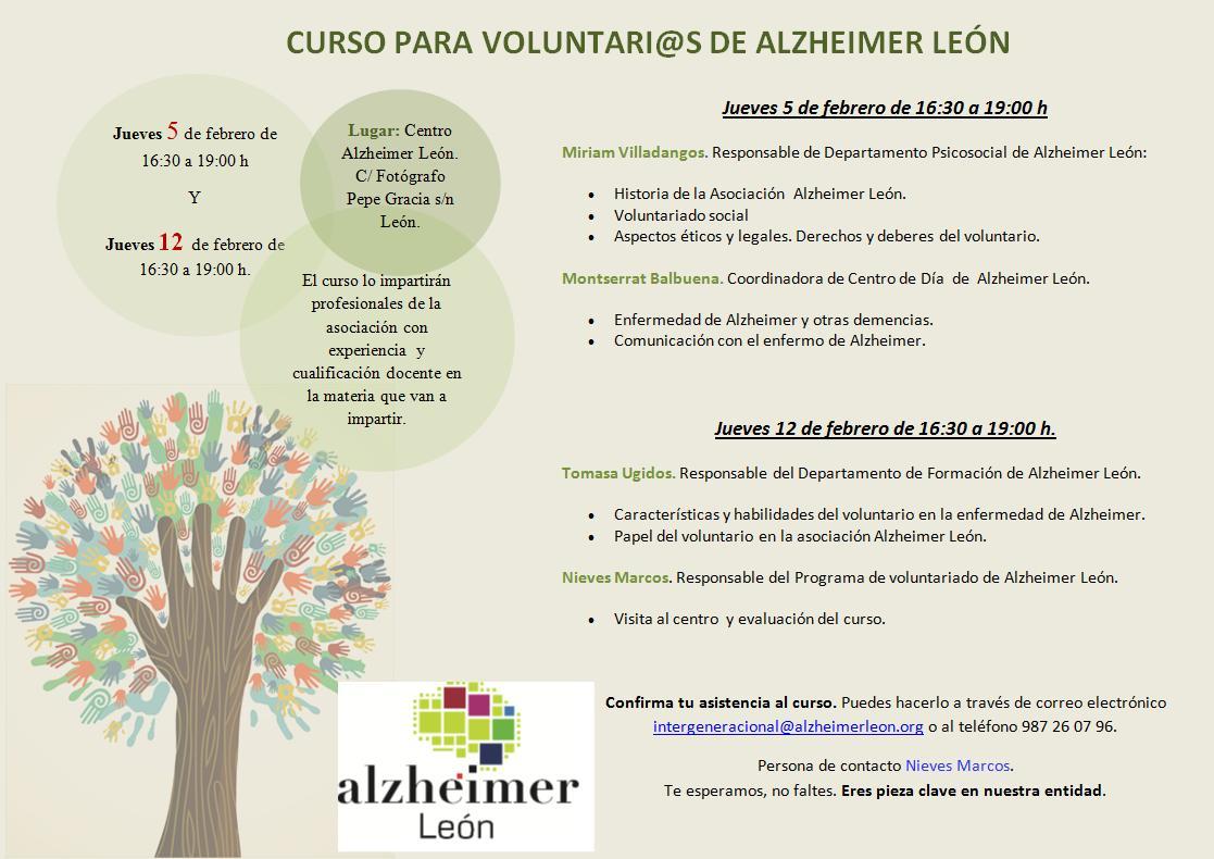 Curso para voluntarios ¡Infórmate! Plazas limitadas