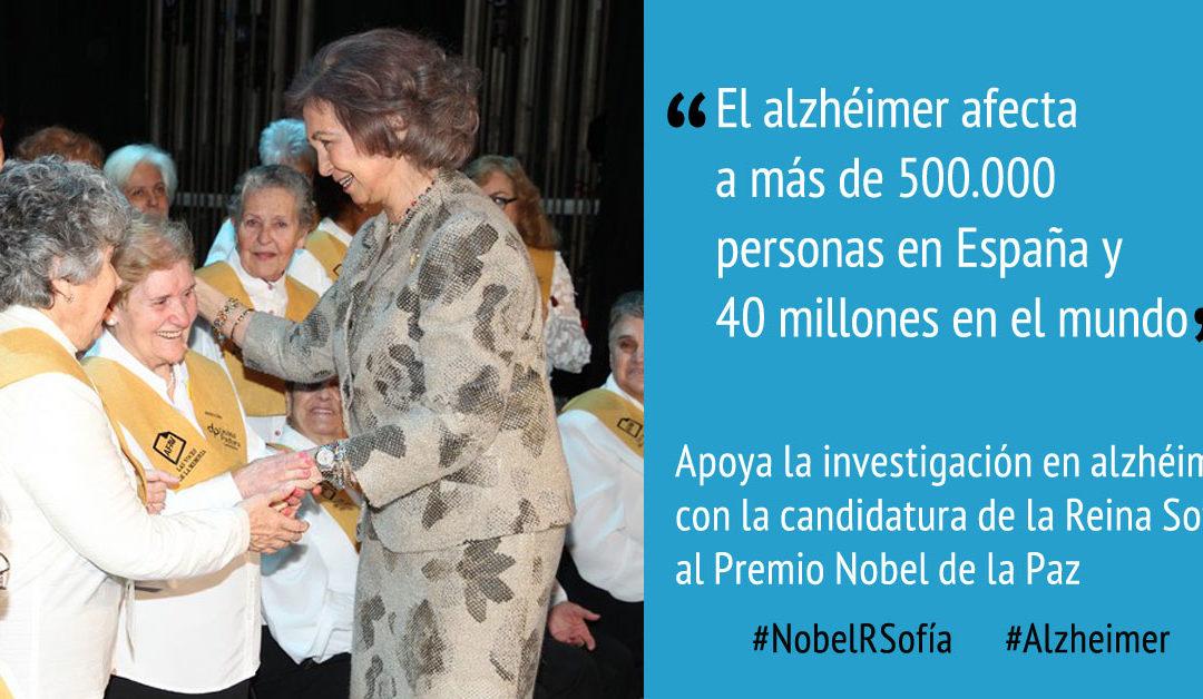 Apoya la investigación en alzhéimer con la candidatura de la Reina Sofía al Nobel de la Paz