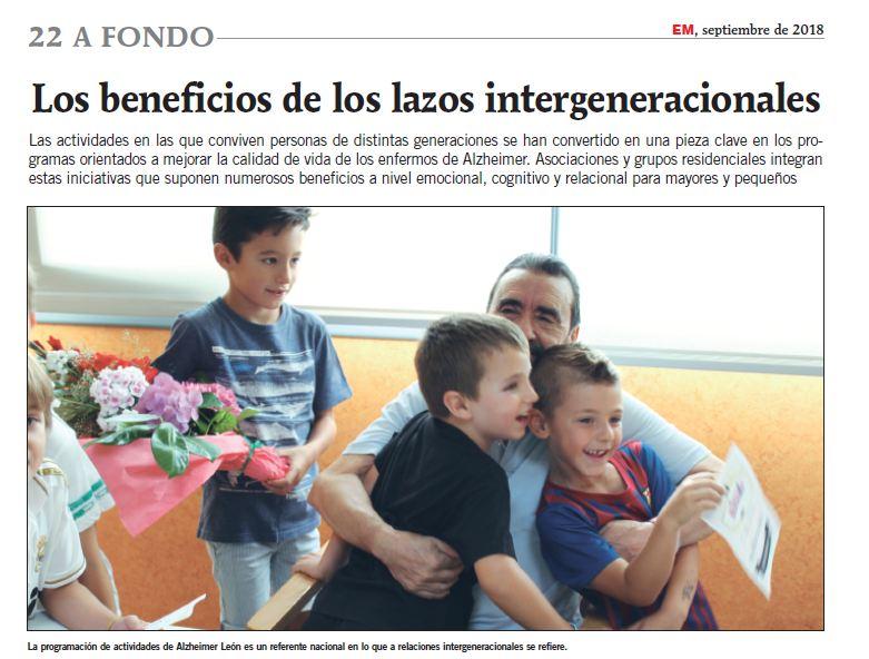 Reportaje sobre nuestro Programa Intergeneracional en la Revista 'Entre Mayores'