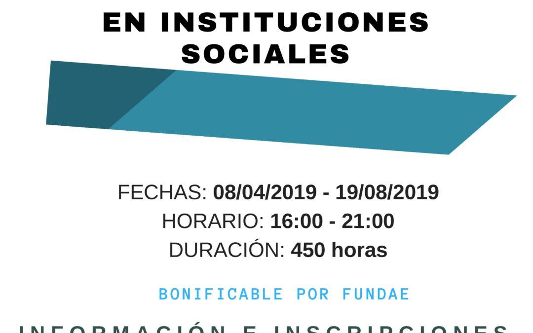 Formación: Atención Sociosanitaria a personas dependientes en Instituciones sociales